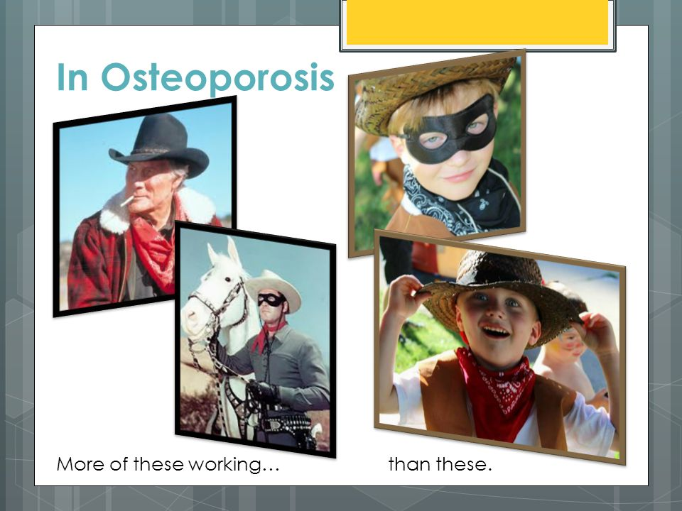 In Osteoporosis More of these working…than these.