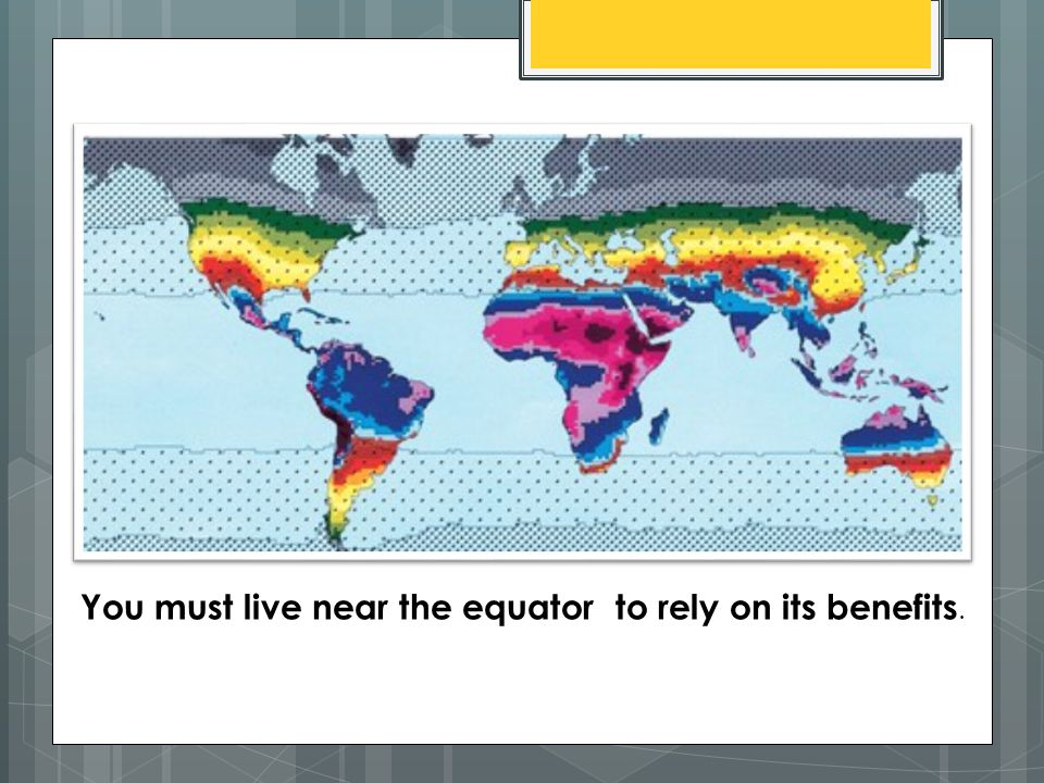 Vitamin D and Sunlight You must live near the equator to rely on its benefits.
