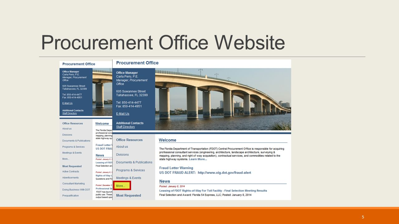 Procurement Office Website 5