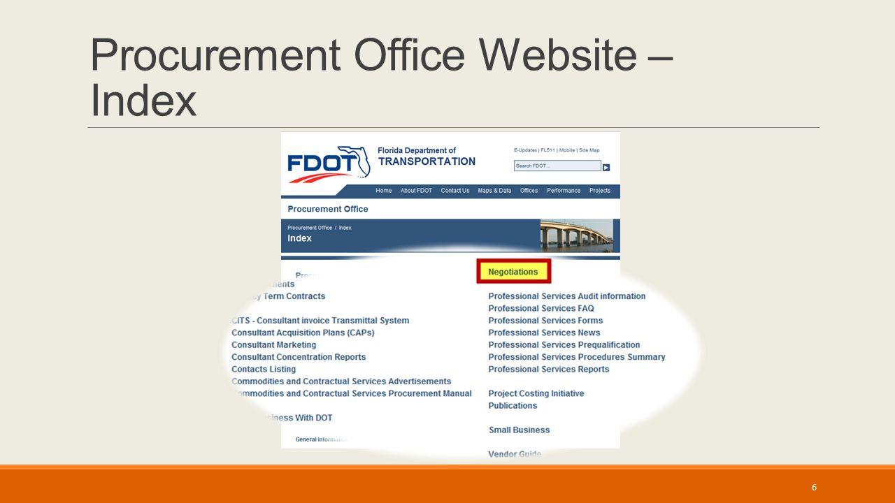 Procurement Office Website – Index 6