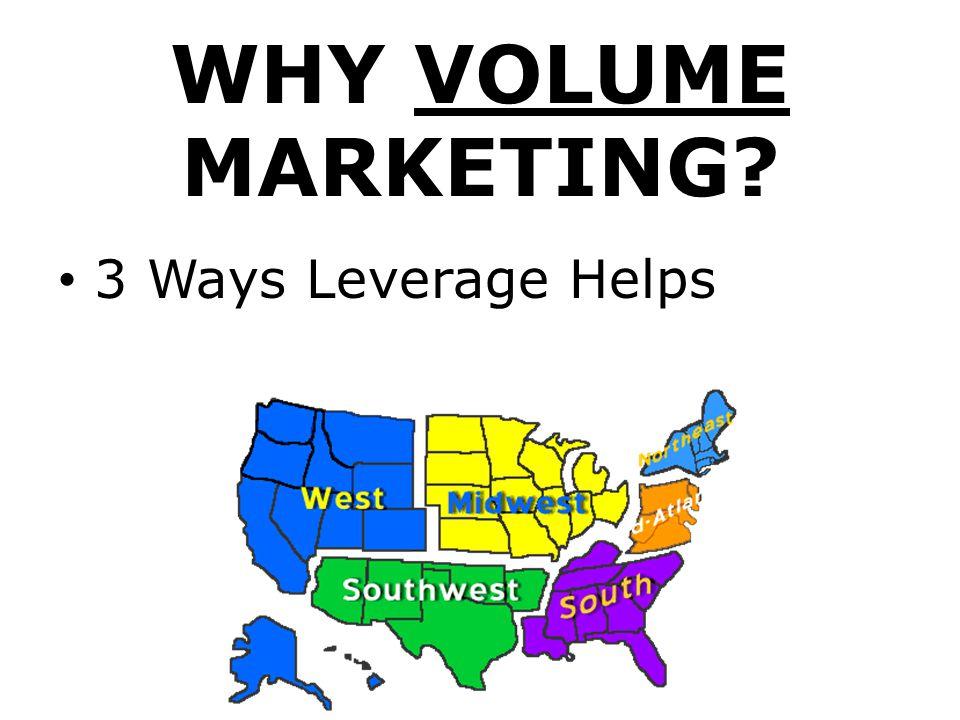 WHY VOLUME MARKETING? 3 Ways Leverage Helps