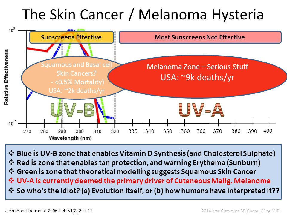 The Skin Cancer / Melanoma Hysteria J Am Acad Dermatol.