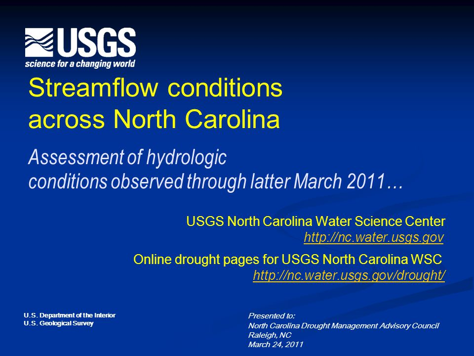 2 Overall 7-day average flows as of March 22 Available at URL http://waterwatch.usgs.gov/new/http://waterwatch.usgs.gov/new/