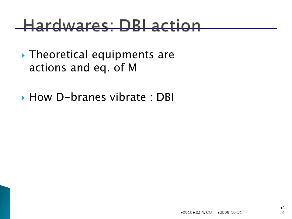  Theoretical equipments are actions and eq.
