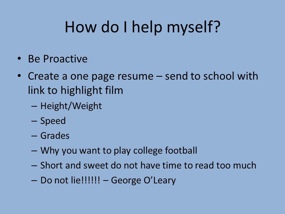 How do I help myself.