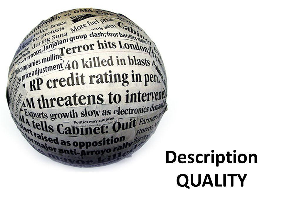 Description QUALITY