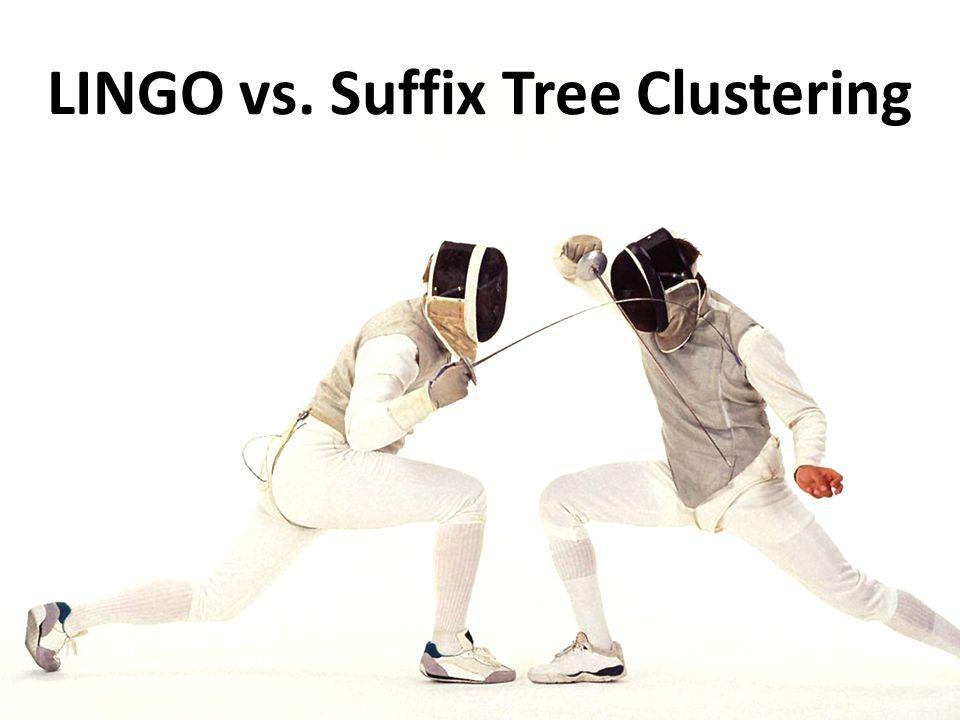LINGO vs. Suffix Tree Clustering