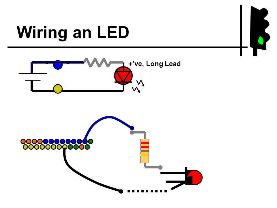 Wiring an LED +'ve, Long Lead