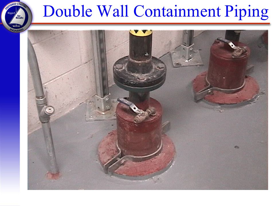Double Wall Containment Piping