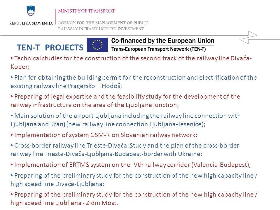 REPUBLIKA SLOVENIJA MINISTRSTVO ZA PROMET DIREKCIJA REPUBLIKE SLOVENIJE ZA VODENJE INVESTICIJ V JAVNO ŽELEZNIŠKO INFRASTRUKTURO 7 14.4.2015 Within the period of the Cohesion fund 2004-2006 two projects are implemented, namely: 1-Modernization of the railway line Pragersko-Ormož (A); 2-Remote control of electrical traction Within the period of the Cohesion 2007-2013 the next projects are implemented: 1-New railway line connection Divača-Koper; 2-Reconstruction, electrification and upgrading of the line Pragersko-Hodoš; 3-Modernization of the existing railway line Divača-Koper; 4-Modernization of level crossings Within the period of ISPA 2000-2004 two projects are in implementation, namely: 1-Modernisation of SS devices on the line Divača-Koper; 2-Modernisation of SS devices in the line Pragersko – Ormož