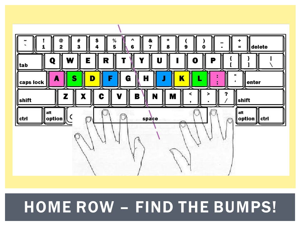 HOME ROW – FIND THE BUMPS!