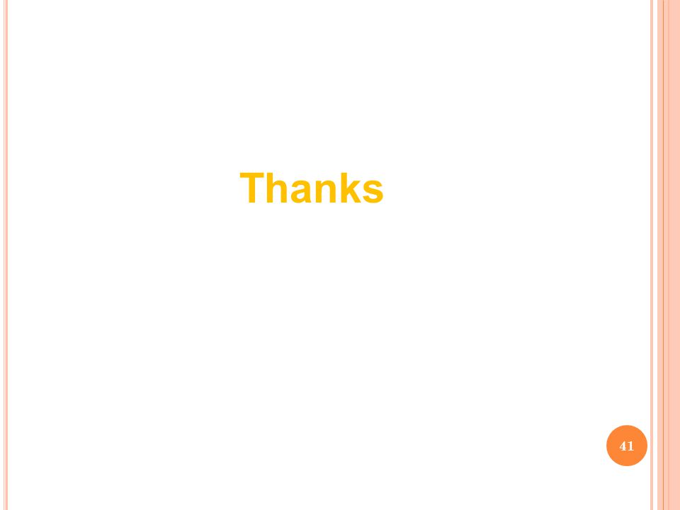 41 Thanks