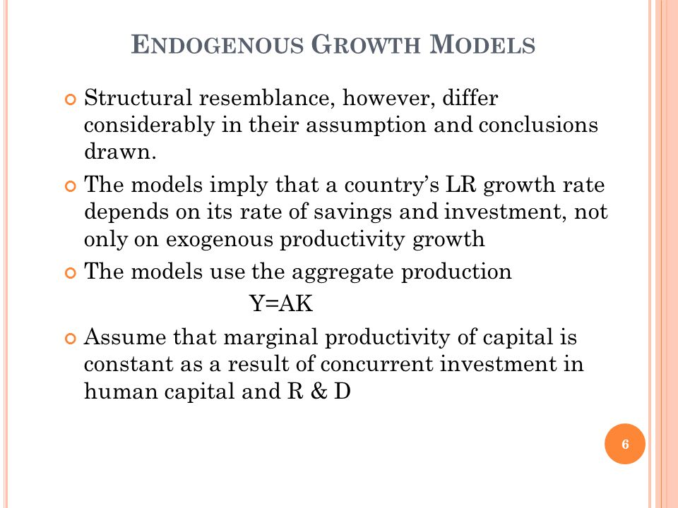 K REMER ' S O-R ING T HEORY OF E CONOMIC D EVELOPMENT Provides insights into low-level equilibrium traps and explains the reasons for the existence of poverty traps and why countries with low- income are caught in these traps The theory models production with strong complementarities among inputs The production function assumes that output is derived by multiplying level of skill required for completing a task by the total number of tasks 27