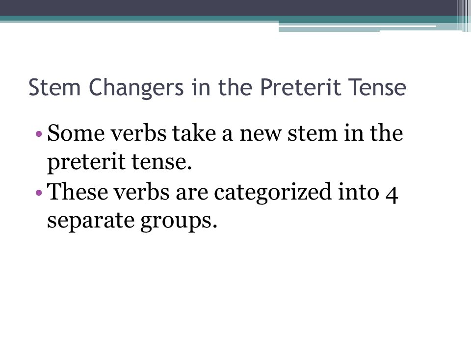 Decir Decir is both a J-stem and an I-stem.