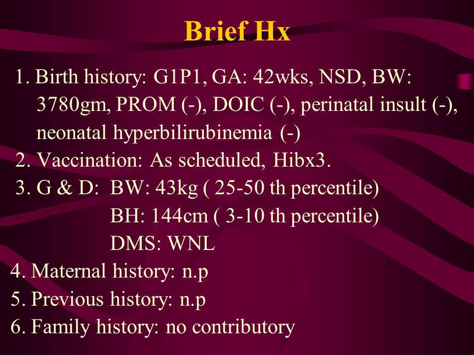Brief Hx 1.