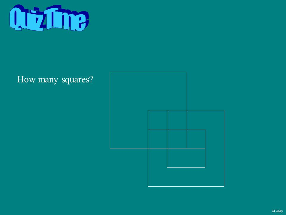 M May How many squares?