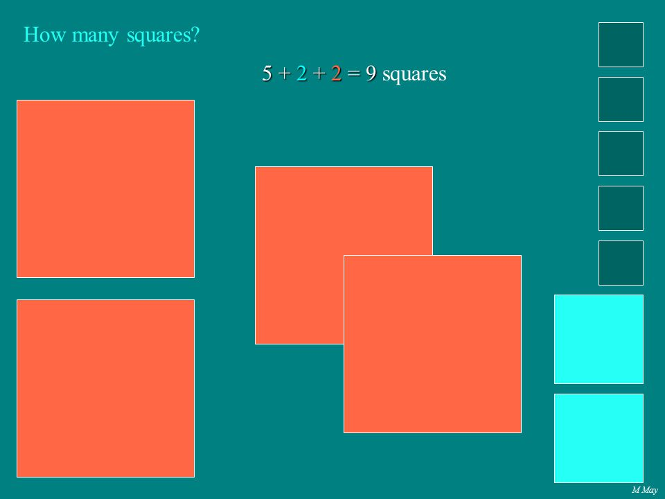 M May How many squares? 5 + 2 + 2 = 9 5 + 2 + 2 = 9 squares
