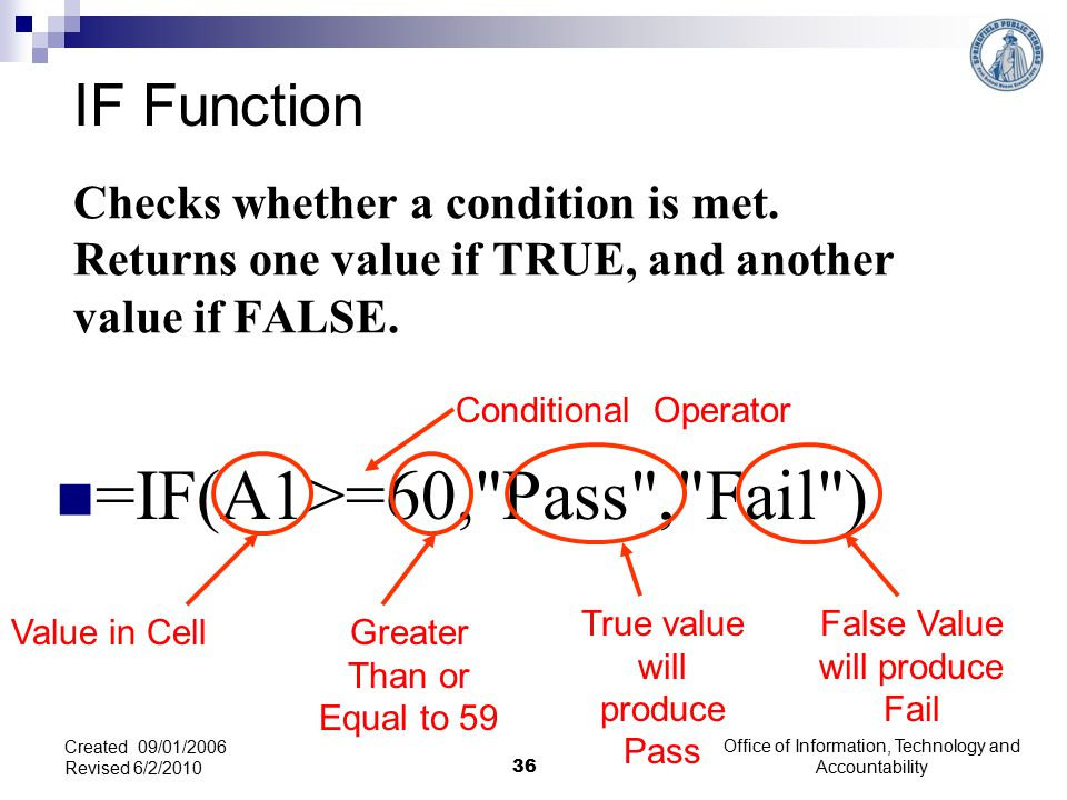 Checks whether a condition is met. Returns one value if TRUE, and another value if FALSE.
