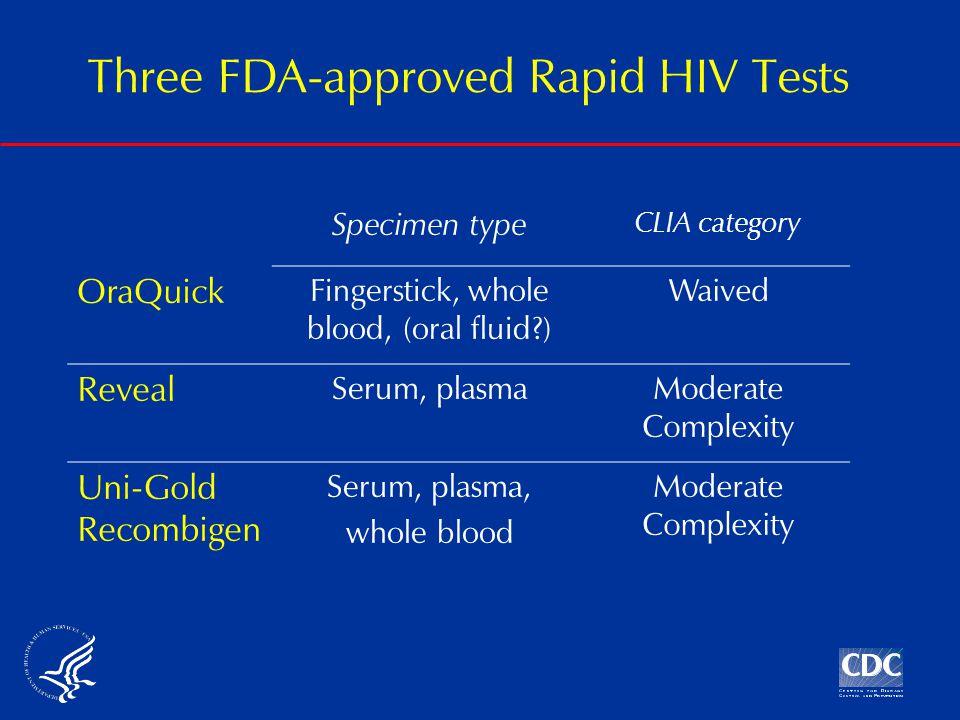 Reveal HIV-1 Rapid Antibody Test: Serum, Plasma