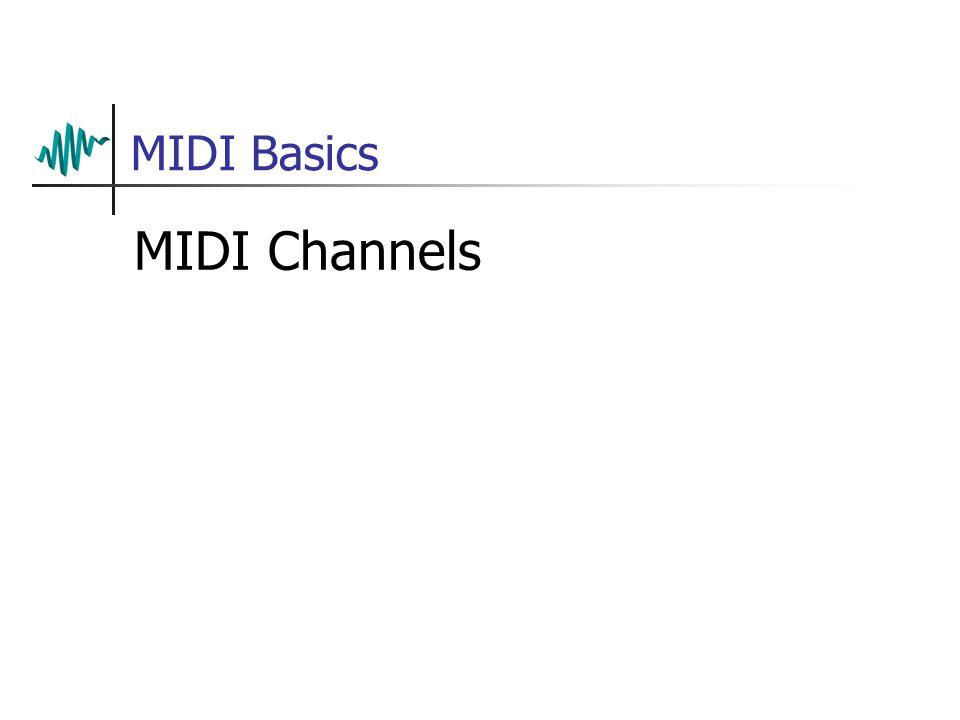 MIDI Basics MIDI Channels