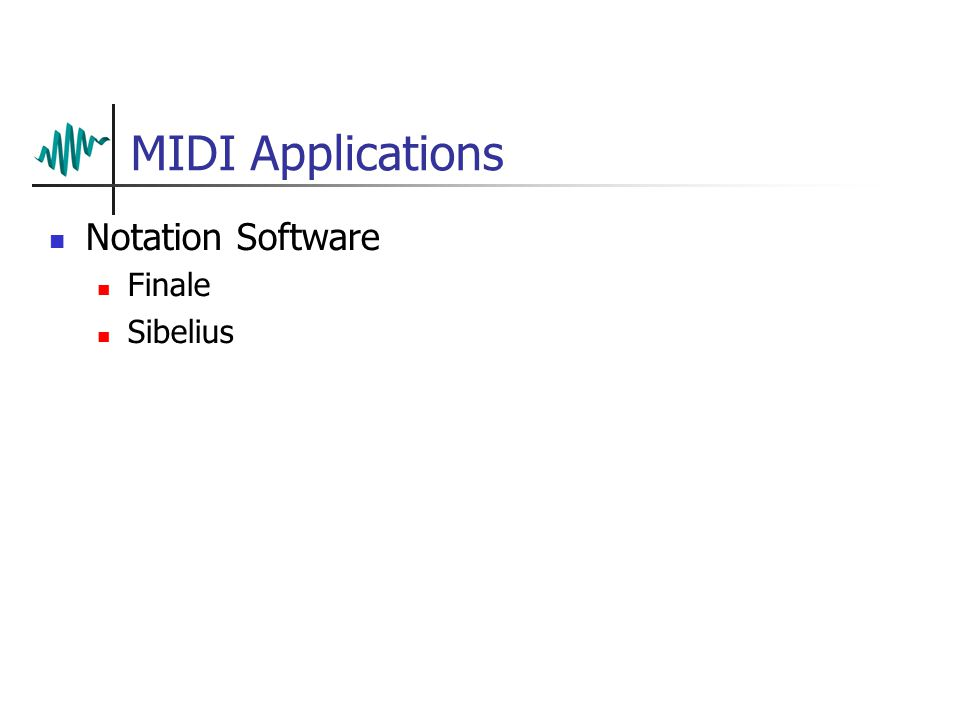 MIDI Applications Notation Software Finale Sibelius