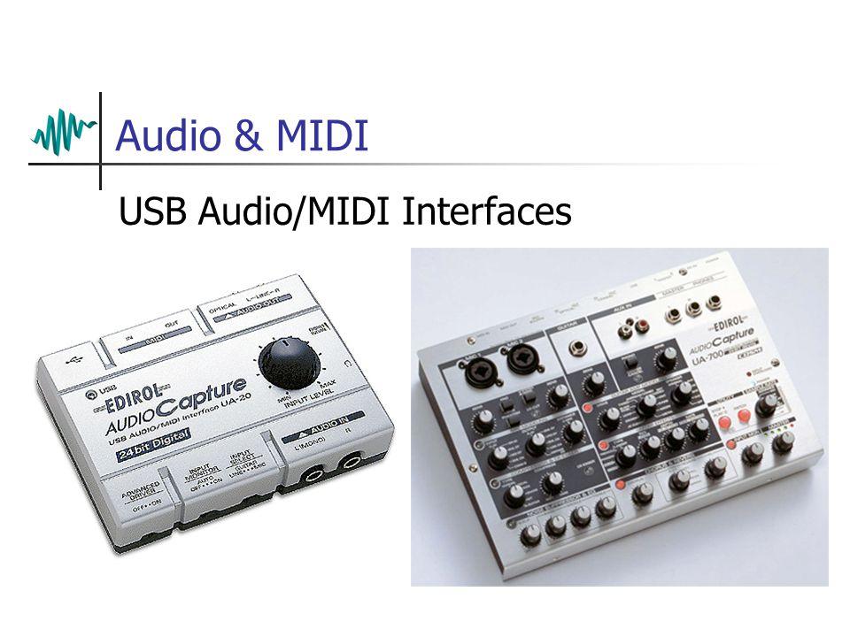 Audio & MIDI USB Audio/MIDI Interfaces