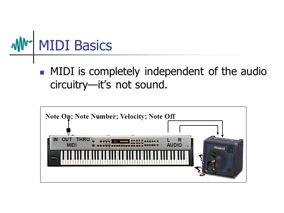 MIDI Basics MIDI is completely independent of the audio circuitry—it's not sound.