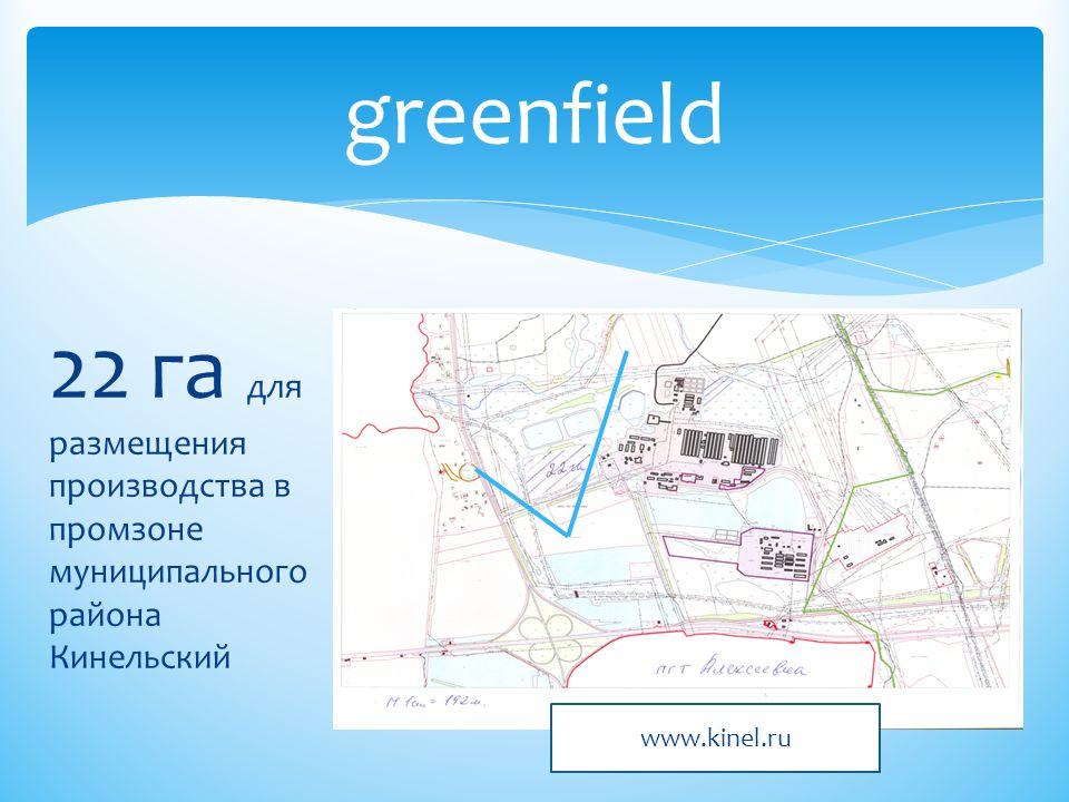 22 га для размещения производства в промзоне муниципального района Кинельский greenfield www.kinel.ru
