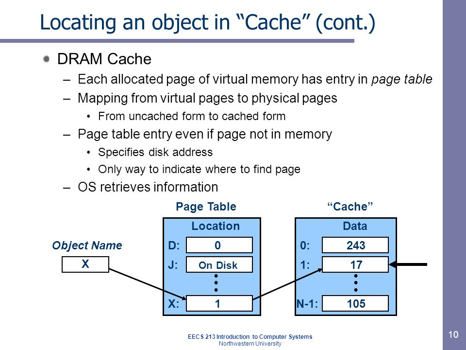 Page faults (like cache misses )‏ What if an object is on disk rather than in memory.