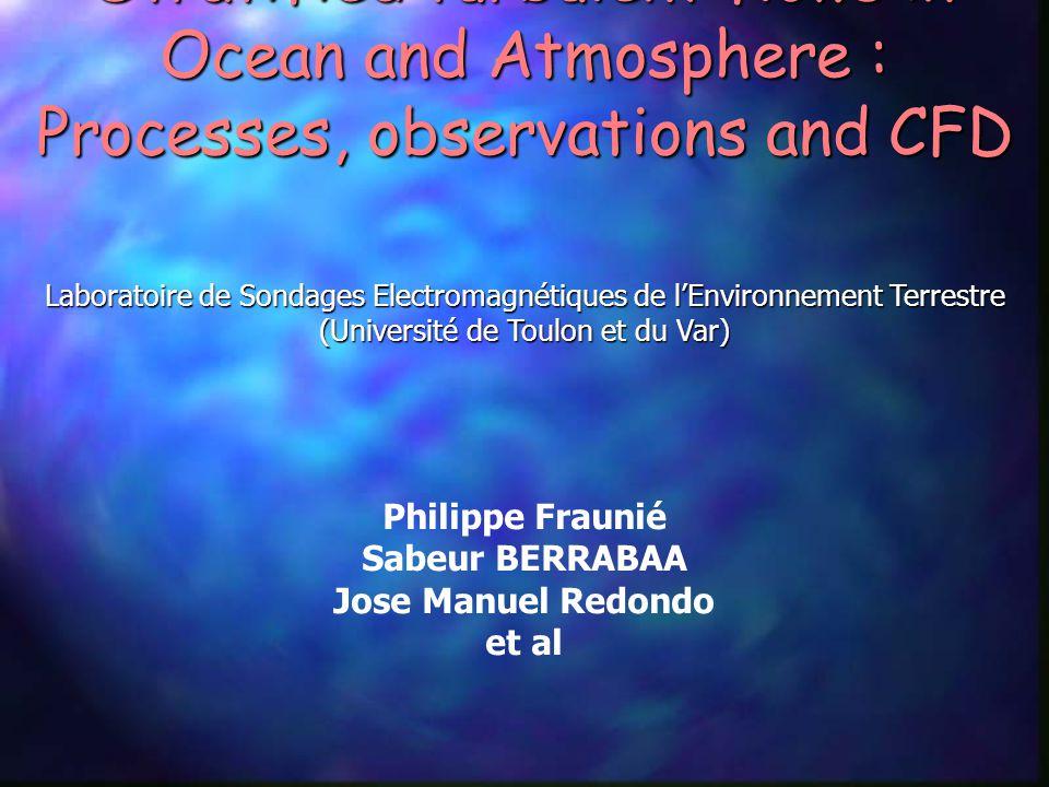 Laboratoire de Sondages Electromagnétiques de l'Environnement Terrestre (Université de Toulon et du Var) Philippe Fraunié Sabeur BERRABAA Jose Manuel