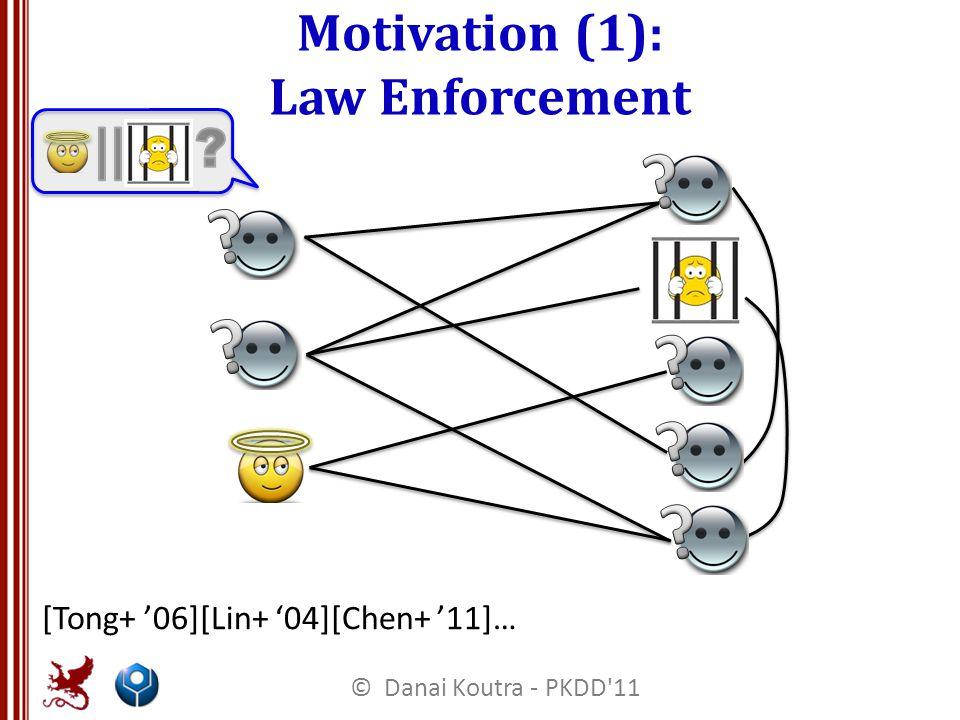 Motivation (1): Law Enforcement [Tong+ '06][Lin+ '04][Chen+ '11]… © Danai Koutra - PKDD 11