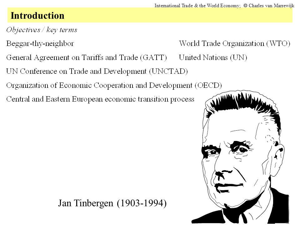 Introduction International Trade & the World Economy;  Charles van Marrewijk Jan Tinbergen (1903-1994)