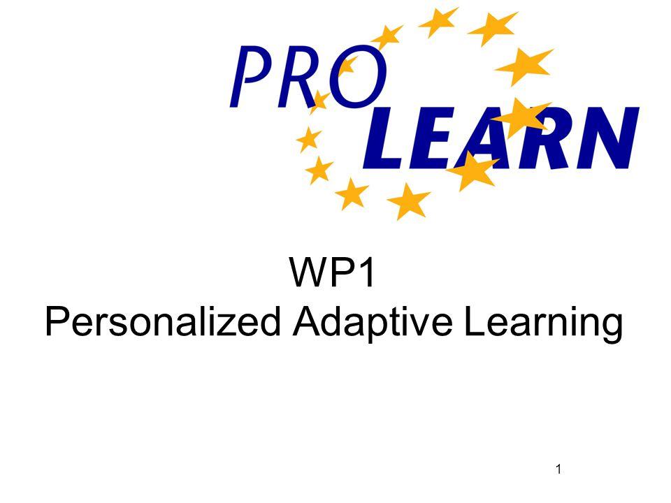 1 WP1 Personalized Adaptive Learning
