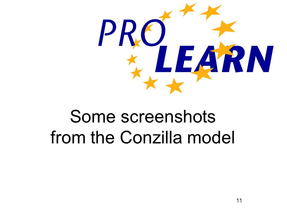 11 Some screenshots from the Conzilla model