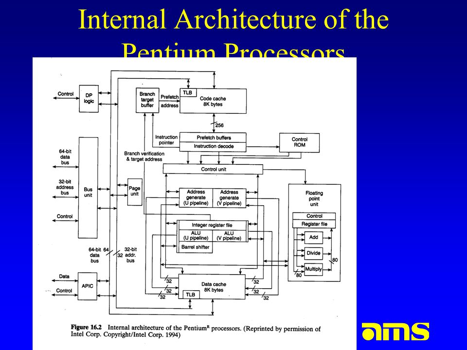 Internal Architecture of the Pentium Processors