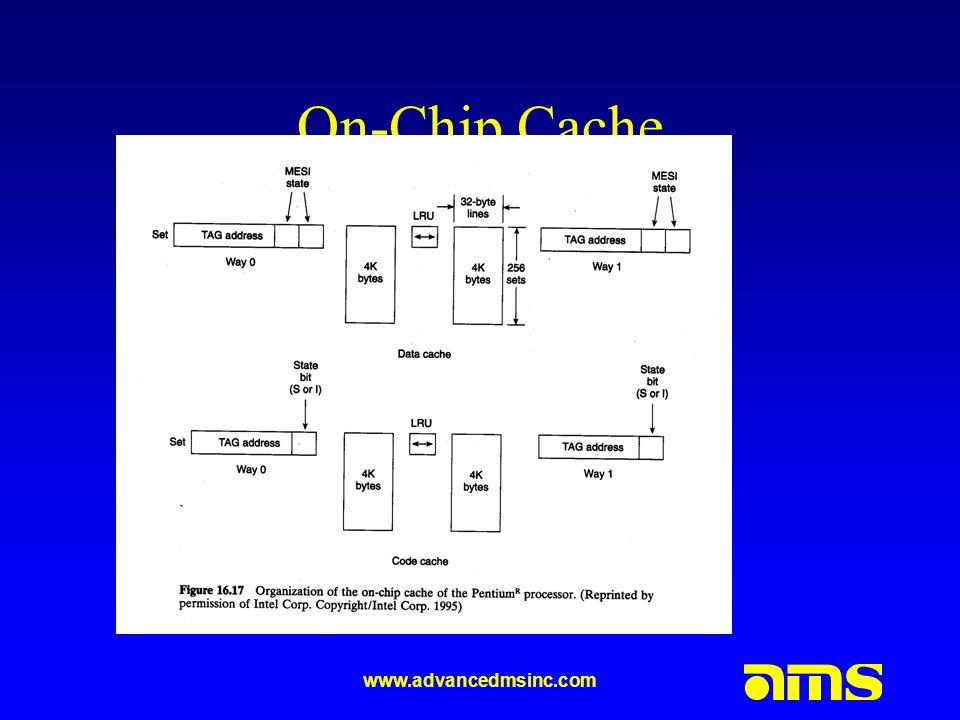www.advancedmsinc.com On-Chip Cache