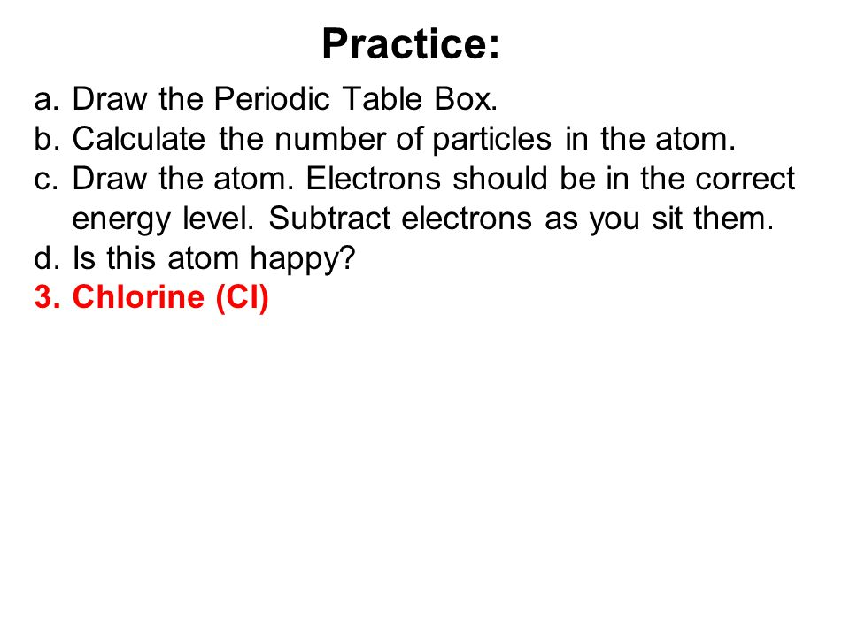 a.Draw the Periodic Table Box.b.Calculate the number of particles in the atom.