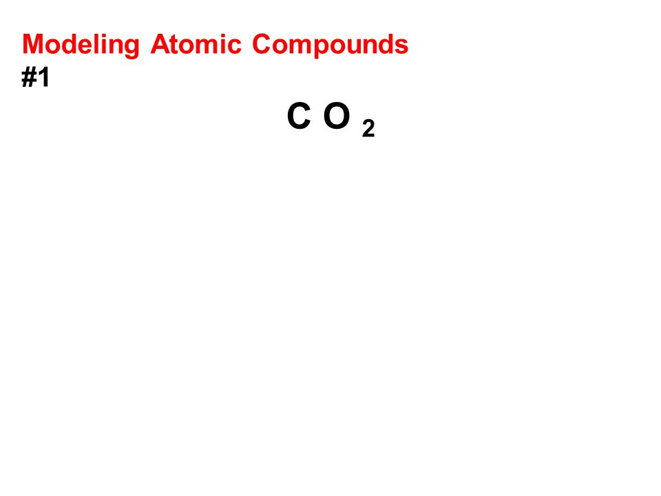Modeling Atomic Compounds #1 C O 2