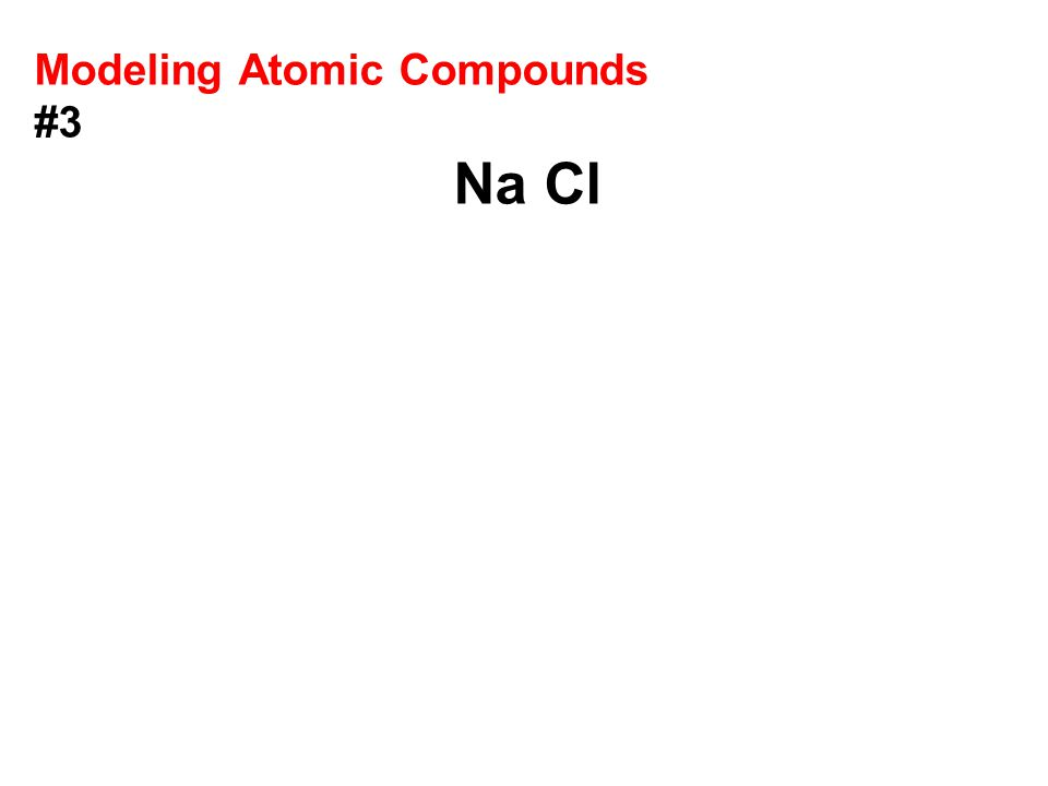 Modeling Atomic Compounds #3 Na Cl
