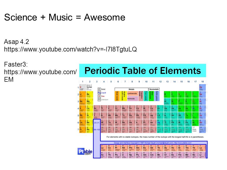 Science + Music = Awesome Asap 4.2 https://www.youtube.com/watch?v=-I7l8TgtuLQ Faster3: https://www.youtube.com/watch?v=zUDDiWtFtEM&list=RDzUDDiWtFt EM