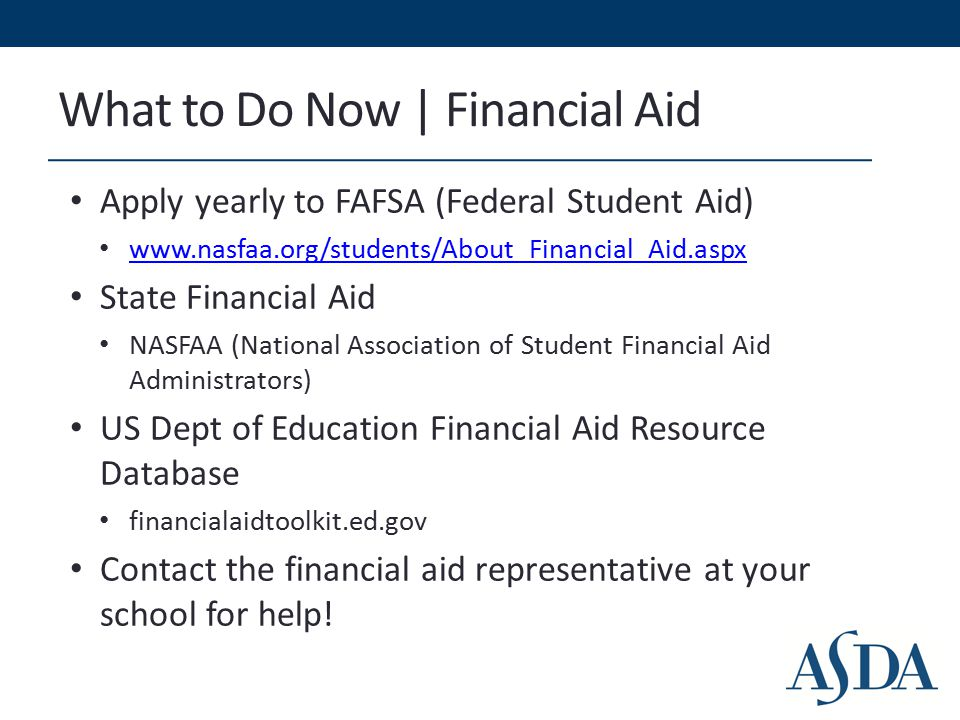 What to Do Now | Calculate Your Debt Loans (other than private) are backed by the government National Student Loan Data System (NSLDS) Central, integrated database for student aid Tracks loans through entire cycle nslds.ed.gov/nslds_SA/ Many loan servicers have applications to help students manage their debt Nelnets Loan Assistant Loan calculator Greatlakes