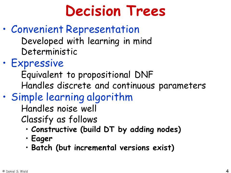 © Daniel S.Weld 5 Concept Learning E.g.