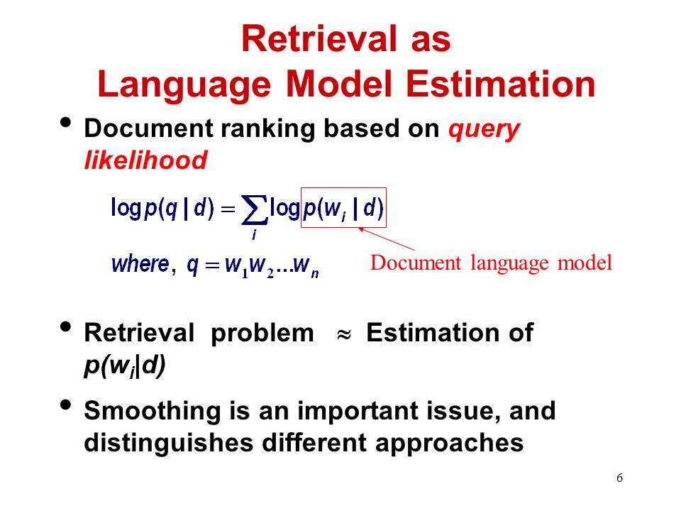 7 How to Estimate p(w|d).