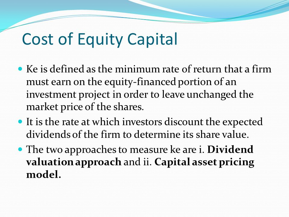 Cost of Preference Shares The preference shareholders carry a prior right to receive dividends over the equity shareholders.