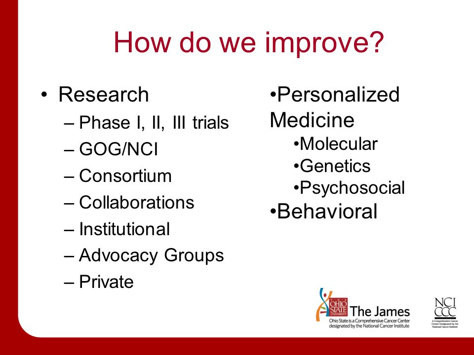How do we improve.