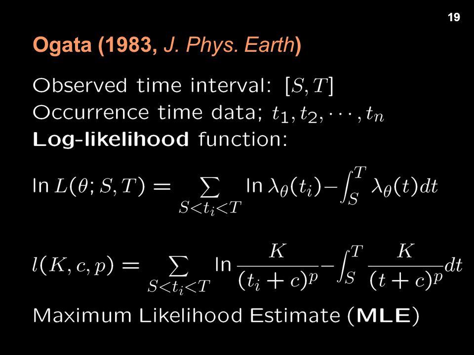 Ogata (1983, J. Phys. Earth) 19