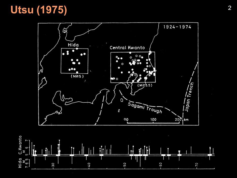 Utsu (1970) Aftershocks Nov.1968 - Apr.