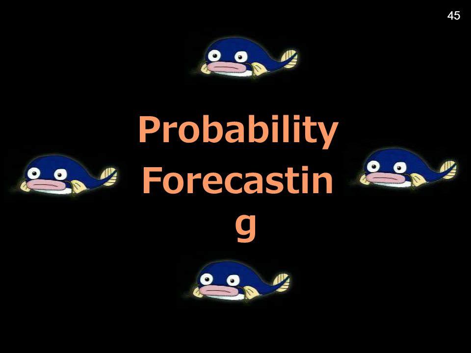 Probability Forecastin g 45