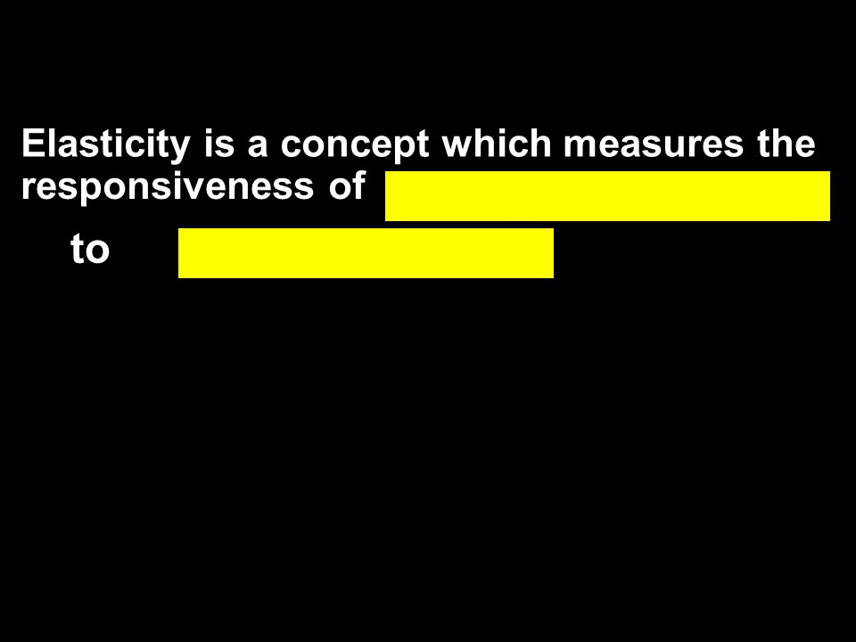 Elasticity is a concept which measures the responsiveness of to