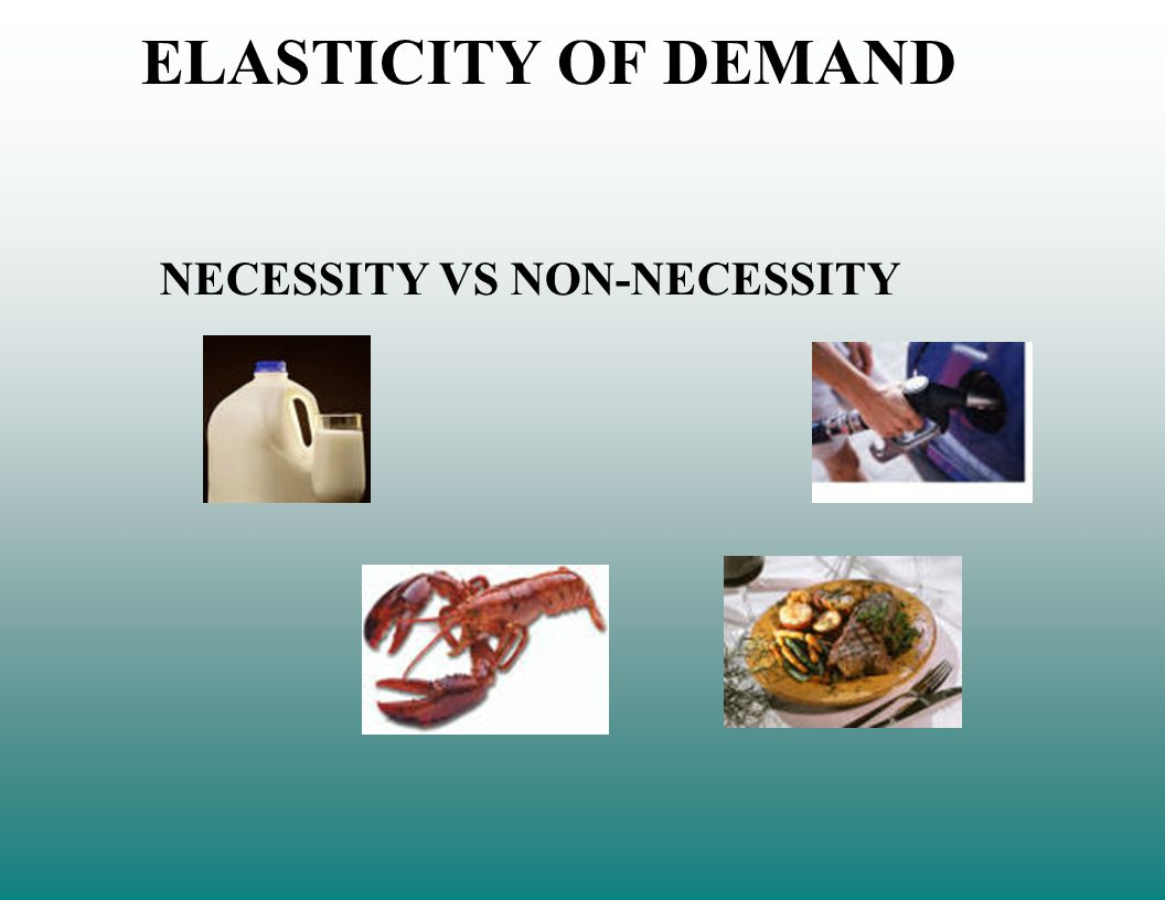 ELASTICITY OF DEMAND NECESSITY VS NON-NECESSITY